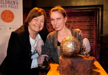 Chaeli with Nobel Peace Prize winner Mairead Maguire and her Nkosi award